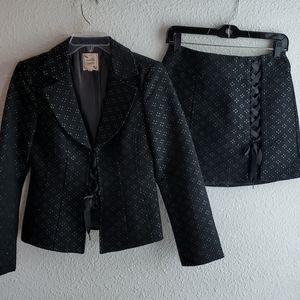 Nanette Lepore Little Black Mini Skirt Suit